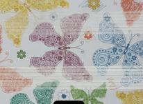 پرده پترن چاپی تصویر گل در شیپور-عکس کوچک