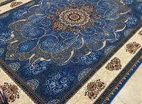 فرش سلاطین رنگ ابی اسمانی در شیپور-عکس کوچک