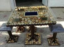میز وصندلی ناهارخوری چوب جنگلی در شیپور-عکس کوچک