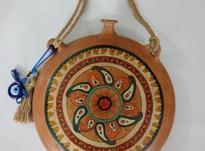 صنایع دستی/ آویز سفالی، نقاشی شده با دست در شیپور-عکس کوچک