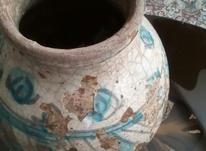 ظرف سفالینه قدیم ایرانی سالم با رنگ وبوی نیشابور . در شیپور-عکس کوچک