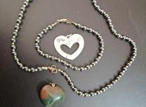 ست گردنبند و دستبند با دو آویز در شیپور-عکس کوچک