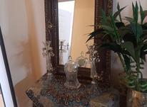 میز و ایینه چوبی منبت کار شده در شیپور-عکس کوچک