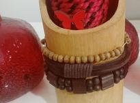 دستبند چرمی و چوبی در شیپور-عکس کوچک