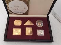 جعبه تمبر 6 عددی نقره روکش طلا در شیپور-عکس کوچک