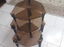 میز عسلی شیشه ای دودی سه قلو در شیپور-عکس کوچک