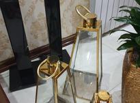 فانوس طلایی مدل هرمی استیل نگیر در شیپور-عکس کوچک
