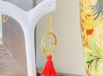 گوشواره یک لنگه حرف س قابدار در شیپور-عکس کوچک