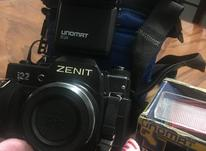 دوربین زنیت + فلاشر +کیف دوربین در شیپور-عکس کوچک