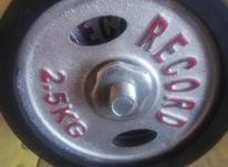دمبل با وزنه متغییر record طوسی کاملا نو 23 کیلو در شیپور-عکس کوچک