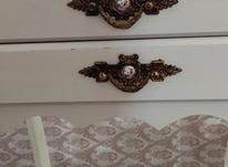 میز تلفن کرم استخوانی سه کشو در شیپور-عکس کوچک
