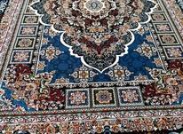 فرش دربار کاشان، آرتین سرمه ایی 9متری، طرح 700شانه تراکم2100 در شیپور-عکس کوچک