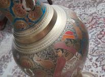گلدان برنجی قلمکاری در شیپور-عکس کوچک