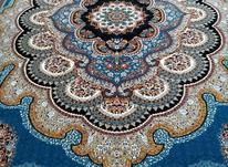 فرش دربار کاشان، باغ ملک 9متری، آبی، فیلی، کرم، سرمه ایی در شیپور-عکس کوچک