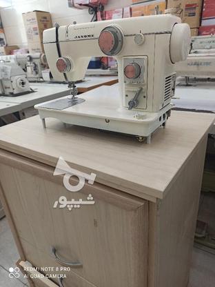 چرخ خیاطی ژانومه 802 بسیار تمیز با میز درحد در گروه خرید و فروش صنعتی، اداری و تجاری در تهران در شیپور-عکس2