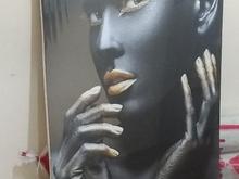تابلو مدرن دختر سیاه طلایی کاملا نو در شیپور