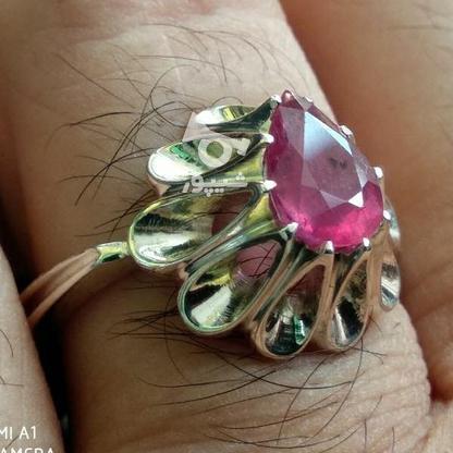 انگشتر یاقوت سرخ معدنی شناسنامه دار در گروه خرید و فروش لوازم شخصی در قم در شیپور-عکس5