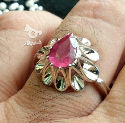انگشتر یاقوت سرخ معدنی شناسنامه دار در گروه خرید و فروش لوازم شخصی در قم در شیپور-عکس6