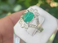 انگشتر عقیق سبز در شیپور-عکس کوچک