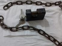 قفل کتابی در حد ب همراه زنجیر در شیپور-عکس کوچک