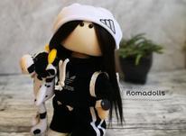 عروسک روسی تم آدیداس سفید مشکی در شیپور-عکس کوچک