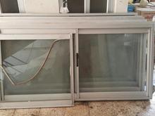 پنجره آلمینیومی با شیشه و توری در شیپور