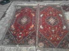دوتا فرش دست بافت با نخ و رنگ طبیعی در شیپور