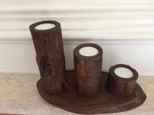 شمعدان سه تایی چوبی ( کادویی ) نو میباشد در شیپور