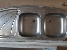سینگ ظرفشویی دوقلو در حد نو سالم در شیپور
