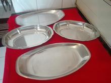 4 تا ظرف استیل قدیمی چند لایه با طرح زیبا و تک. در حد نو. در شیپور