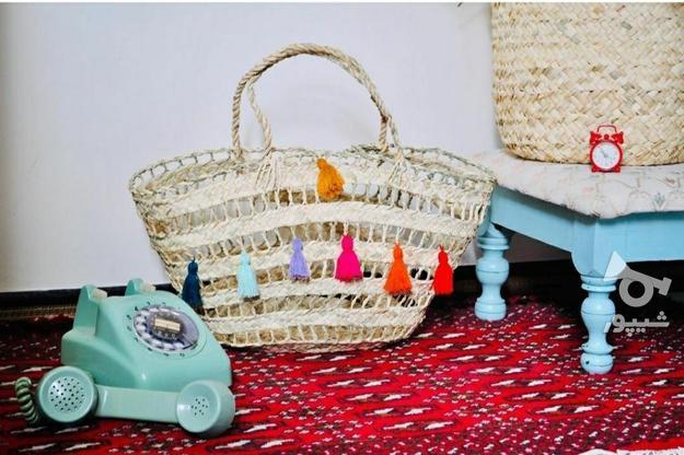 زنبیل حصیری در گروه خرید و فروش ورزش فرهنگ فراغت در البرز در شیپور-عکس1