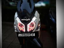 نصب آپشن دیلایت روز نئون داخل چراغ کلیه موتور سیکلت ها در شیپور