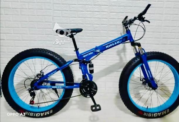 دوچرخه سایز 26 تاشو لاستیک افرودی در گروه خرید و فروش ورزش فرهنگ فراغت در خراسان رضوی در شیپور-عکس1
