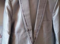 فروش یک عدد کت وشلوار دامادی نو رنگ نقره ای براق سایز 48 در شیپور-عکس کوچک