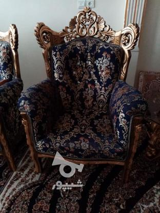 مبل اسطیل چوب راش ورق طلا در گروه خرید و فروش لوازم خانگی در تهران در شیپور-عکس2