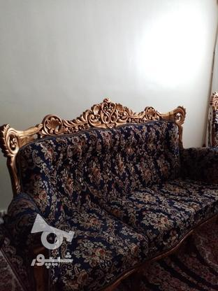 مبل اسطیل چوب راش ورق طلا در گروه خرید و فروش لوازم خانگی در تهران در شیپور-عکس3