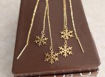 گوشواره بخیه ای طلا در شیپور-عکس کوچک