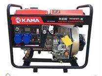 موتور برق کاما دیزلی 6000 وات استارت KDE 7000 تیلر پمپ آب در شیپور