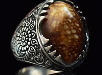 انگشتر نقره مدل کیمن (( نو - سنگ صدف )) در شیپور-عکس کوچک