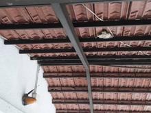 پارکینگ کامل با کل اهن با سقف سفال در شیپور