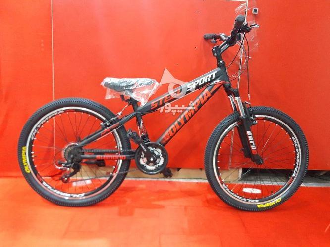 دوچرخه 24 المپیا مدل اسپرت استیل در گروه خرید و فروش ورزش فرهنگ فراغت در قزوین در شیپور-عکس2