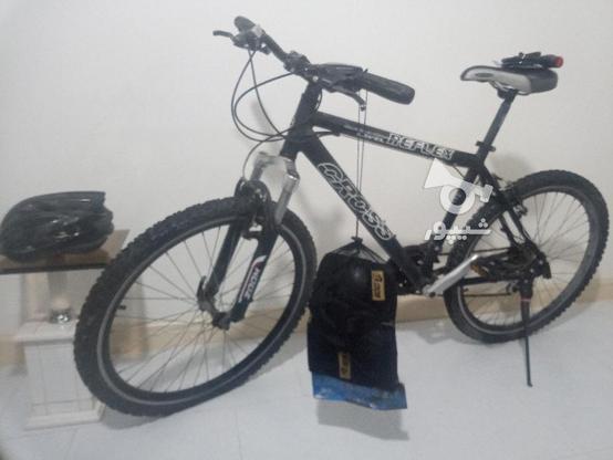 دوچرخه کراس 26 با وسایل در گروه خرید و فروش ورزش فرهنگ فراغت در تهران در شیپور-عکس5