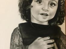 سیاه قلم.نقاشی چهره.طراحی چهره.کادو در شیپور