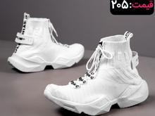 کفش / کتونی ساقدار مردانه ساسان سفید در شیپور