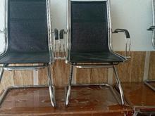 فروش صندلی ثابت شرکتی رویه چرم و میز مدیریت جنس چوب در شیپور