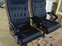 *صندلی مدیریتی چرم دومکانیزم چرخدار جک دار اداری* در شیپور-عکس کوچک