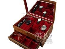 جعبه جواهرات ساعت عینک چوبی آستردوزی شده در شیپور