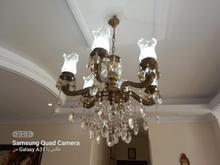 لوستر 6شاخه بزنز دوعدد بدون لامپ در شیپور