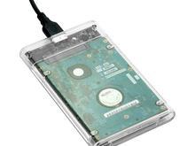 باکس هارد دیسک 2/5 اینچ USB 3.0 اکسترنال نوع محفظه شفاف در شیپور