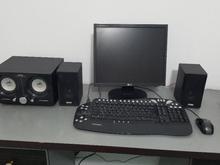 رایانه همراه مانیتور و اسپیکر، موس، کیبورد و کیس در شیپور